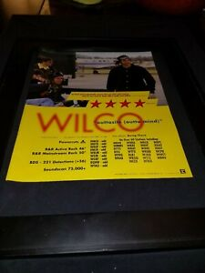 Wilco Outtasite Rare Original Radio Promo Poster Ad Framed!