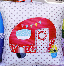 PATTERN - Poppies Van - cute applique pillow PATTERN - Claire Turpin
