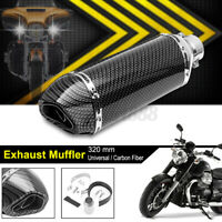 Universal Motorcycle Exhaust Muffler Pipe Removable Pit Dirt Bike Carbon AU *