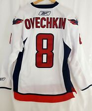 Alexander Ovechkin signed Capitals 2018 Stanley Cup Champs white Reebok Jersey