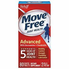 NEW SCHIFF MOVE FREE JOINT HEALTH GLUCOSAMINE CHONDROITIN PLUS MSM 80 TABLETS