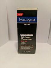 Neutrogena Men Sensitve Skin Oil Free Moisture SPF 30 helioplex 1.7 fl oz *READ*