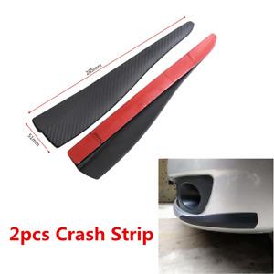 2x Carbon Fiber Car Bumper Door Edge Anti Scratch Crash Strip Trim Accessories
