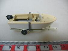 H377-0,5# WIKING H0 Anhänger mit Motorboot, 95, NEUW