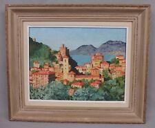 Yvan Gallé (1907-1975) huile sur toile paysage Corse (?) bord de mer