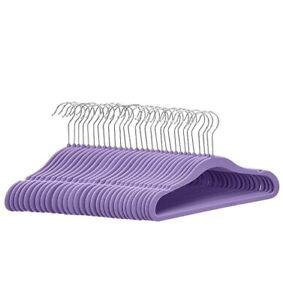 NEW Basics Kids Velvet Non-Slip Clothes Hangers, Purple - Pack of 30