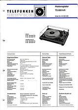 Service Manual-Anleitung für Telefunken TS 850