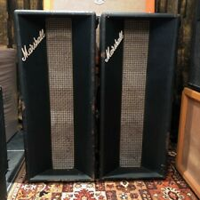 Vintage 1971 Marshall Pair 1x10 1x12 Model 2047 Guitar PA Column Cabinets