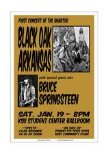 Bruce Springsteen / Black Oak Arkansas 1974 Kent State Concert Poster