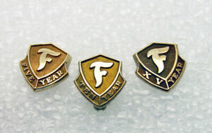 14K Pins - Firestone 5,10, and 15 Year Service Pins