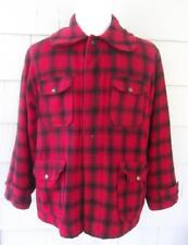 Vtg 50s red buffalo plaid wool Woolrich hunting outdoor coat jacket - l - c 50