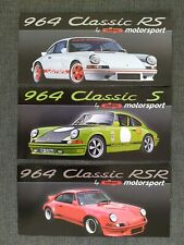 PORSCHE 911 964 Basis Umbau S RS RSR Motorsport G-Modell Prospekt Brochure AK