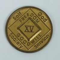 Narcotics Anonymous 15 XV Years Medallion English NA Token