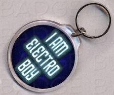 Ich bin Electro Boy/Girl Round Schlüsselring-Boosh Cool!