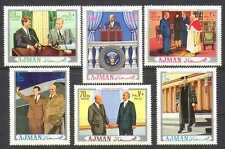 Ajman 1970 KENNEDY/Eisenhower/Pope 6v set (n13363)