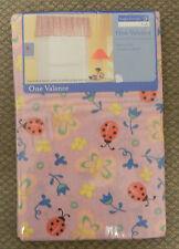 "Set 2 Window VALENCES Kids Pink Ladybug Butterfly Flowers 84""x15"""
