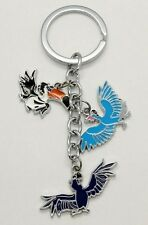 Rio Movie Blu Jewel Rafael Collectible METAL Keychain Key Ring Macaw Parrot DOLL