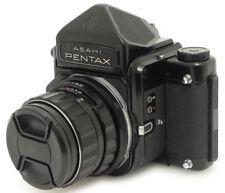 Pentax 67 Eye Level Finder Camera + Takumar Super-Multi-Coated 105mm F2.4 Lens