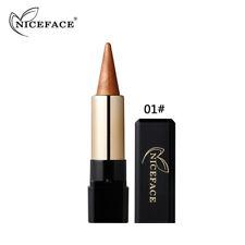AU Waterproof Glitter Eyeshadow Pen Metallic Eye Brighten Contour Shadow Stick 1#