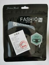 Fashion Cloth Fabric for Face Cover Washable Reusable Dust Pollution - Black