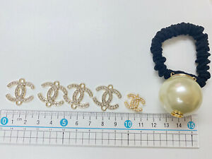 Chanel CC Button and Pearl Hair Band Lot