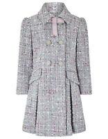Girls Monsoon Grey Tweed Tabitha School Dress Jacket Coat Age 3 to 13 Years