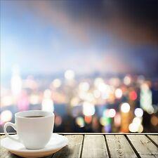 QUADRO ASTRATTO MODERNO IN SU VETRO TEMPERATO 50x50CM CUCINA CAFFE COLORI