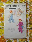 BUTTERICK 176 sewing pattern CHECKED / COMPLETE 1960s vintage retro toddler