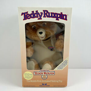 Vintage Teddy Ruxpin Worlds Of Wonder 1985 NEW w/ Box Eyes And Mouth Do Not Move