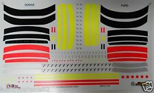 NASCAR DECAL 2000-2004 STOCK CAR GOODIES ACCESSORY SHEET - FORD-DODGE - SLIXX