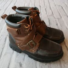Polo Ralph Lauren Leather Boots Size 10.5 Brown