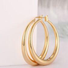 """1.3"""" 14K Yellow Gold Plated Hoops Endless Hoop Earrings"""