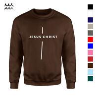 HOLY CROSS CHRISTIAN PRINTED SWEATSHIRT CHURCH DESIGNED LONG SLEEVE SHIRT JESUS