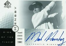 RARE 2001 MARK HENSBY SP AUTHENTIC SIGN OF THE TIMES AUTOGRAPH CARD !