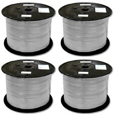 Lot4 1000ft Flat Phone/Telephone Line Cord RJ11 wire6P4C Cable/Cord spool{SILVER