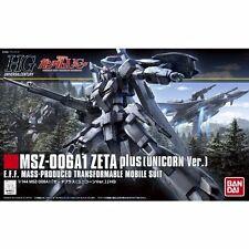 Bandai Hguc 1/144 Msz-006A1 Zeta Plus Unicorn Ver Plastic Model Kit from Japan
