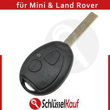 Mini Cooper Land Rover Auto Schlüssel 2 Tasten Gehäuse Rohling Fernbedienung Neu