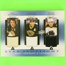 ESPOSITO / BERGERON / SEGUIN  2013-14  TRIPLE GAME USED  STAR SPOTLIGHT  Bruins