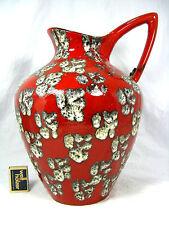 "Well shaped 60´s design ES Keramik vase Emons & Söhne  "" Lava "" glaze 35 cm"