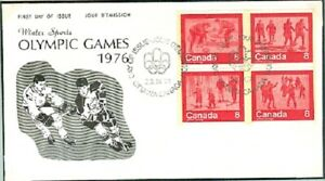Canada Olympic Games Innsbruck 1976 set on Icehockey cover first day  23.IX.74