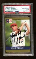 Payne Stewart Signed 1990 Pro Set #20 Autographed PGA Golf PSA/DNA *1988
