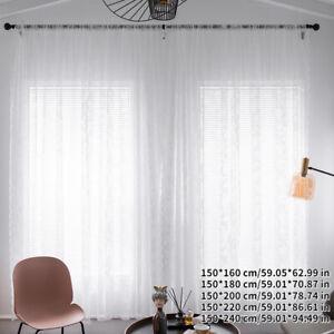 White Tulle Sheer Curtain Bedroom Romantic Drape Light Filtering for Living Room