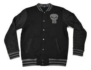 Marvel Mens Punisher Varsity Jacket New S, M, XL