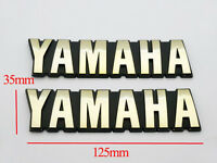 Motorcycle 3D ABS 125mm Fuel Gas Tank Badge Emblem Decal Sticker for Yamaha Set