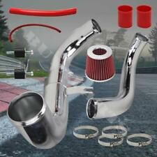 2006-2011 Honda Civic EX DX LX Chrome Cold Air Intake System Kit w/Red Air Filte