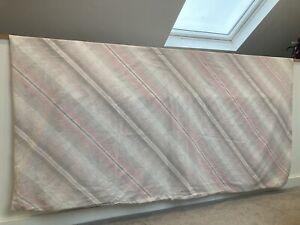 Vintage Geometric Grey Pink White Stripe Double Duvet Cover 80s