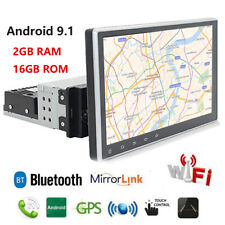 """Rotatable 1 Din Android 9.1 9"""" 4-core RAM 2GB ROM 16GB Car Stereo Radio GPS OBD"""