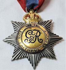 British Badge of the Imperial Service Order by Elkington of London, dated 1921