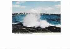 1974 postcard.  Surf, Peggy's Cove Lighthouse, Nova Scotia, Canada