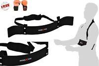 Maxx Bicep Isolator Arm Blaster Bombe Barbell Bar Weight Lifting Straps Training